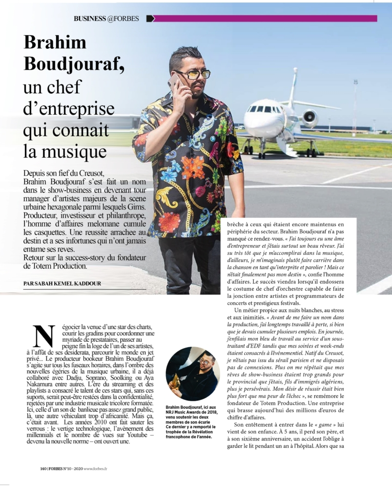 Brahim Boudjouraf directeur de Totem production