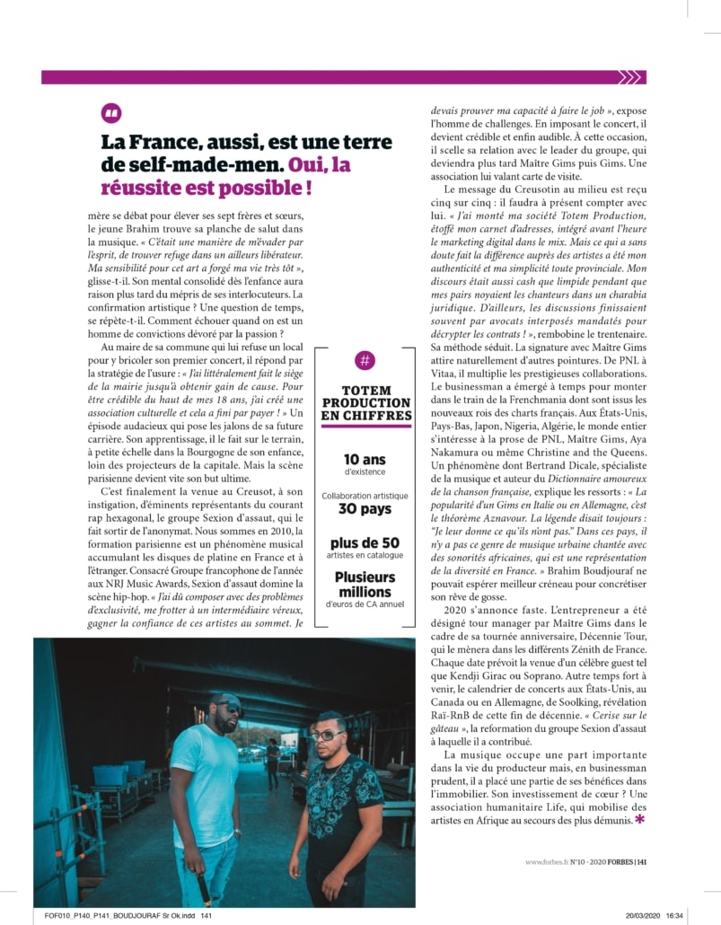 Forbes business Gims et Brahms