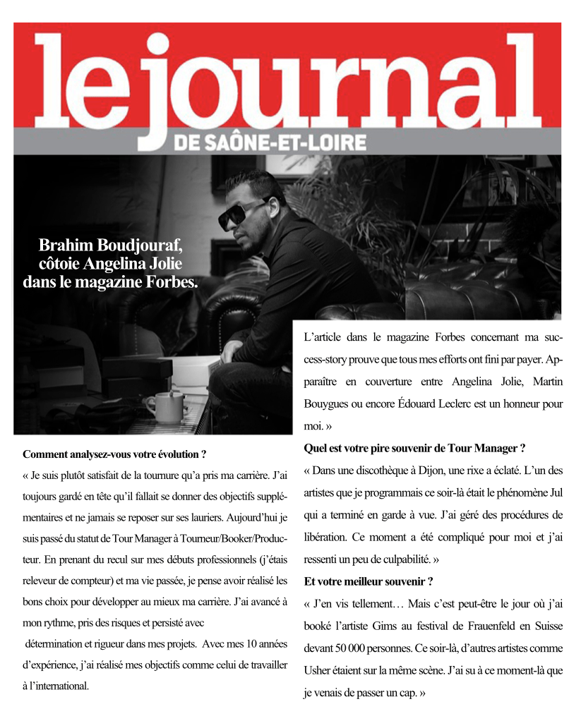 Brahim Boudjouraf apparait dans forbes magazine JSL
